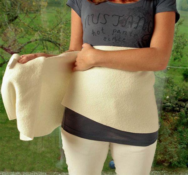 Woll-fühl-Wickel für Bauch und Rücken