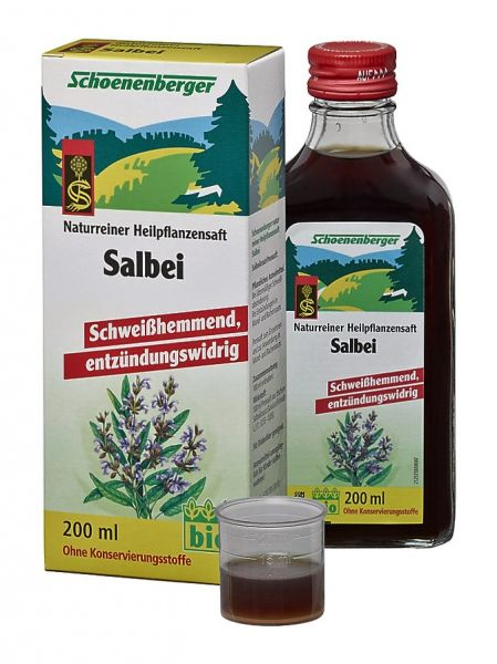 Naturreiner Heilpflanzensaft Salbei