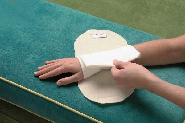 Woll-fühl-Wickel für Hand-und Sprunggelenk
